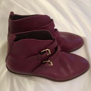 Pale Rosewood colored boots, Jcrew ankle boots